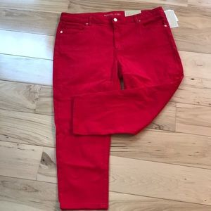 Michael Kors Izzy cropped skinny jeans.  NWT